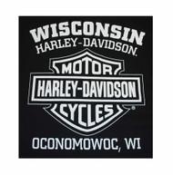 Harley-Davidson Men's Prestige Eagle B&S Short Sleeve T-Shirt Black 30298299 - Wisconsin Harley-Davidson