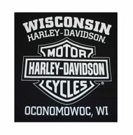 Harley-Davidson Men's Prestige Eagle B&S Short Sleeve T-Shirt Black 30298299 - Wisconsin Harley-Davidson
