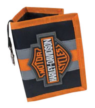 Harley-Davidson Boy's Reflective Bar & Shield Tri-Fold Wallet, Black 7180539 - Wisconsin Harley-Davidson