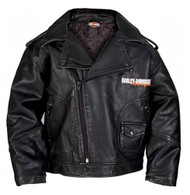 Harley-Davidson Baby Boys' Upwing Eagle Biker Pleather Jacket Black 0366074 - Wisconsin Harley-Davidson