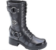 Harley-Davidson Women's Eda 9-Inch Boots. Inside Zipper. Lace Front. D83736 - Wisconsin Harley-Davidson