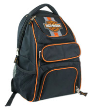 Harley-Davidson Compact Bar & Shield Reflective Backpack, 12 x 17 Black 7180541 - Wisconsin Harley-Davidson