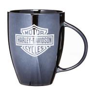 Harley-Davidson Ceramic Coffee Mug, Bar & Shield Bistro 18 oz Black 3BLM4900 - Wisconsin Harley-Davidson