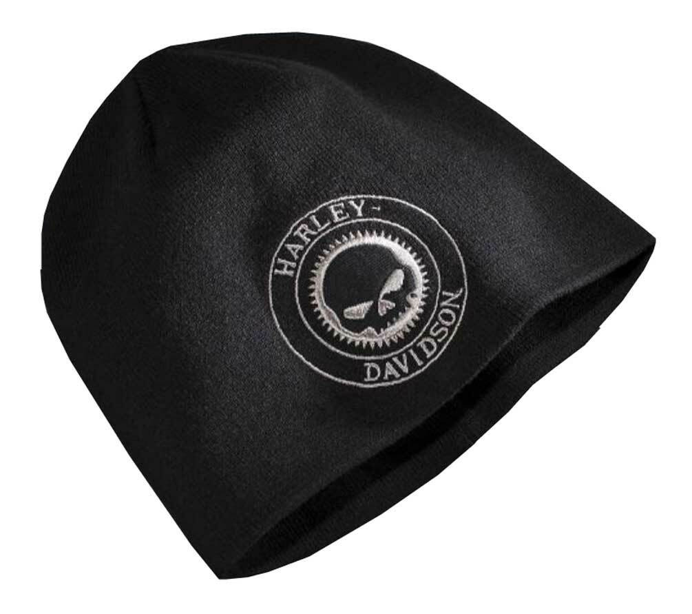 ac9694e9cc4 Harley-Davidson® Men s Embroidered Skull Patch Knit Beanie Hat ...