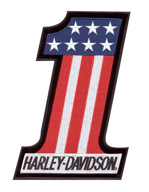 Harley-Davidson #1 Red, White & Blue Small Patch EM227842 - Wisconsin Harley-Davidson