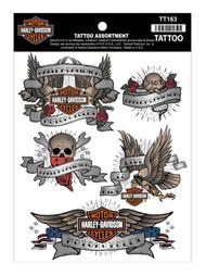 Harley-Davidson Temporary Tattoos, Classic Tattoo Assortment, 4 Colors TT163 - Wisconsin Harley-Davidson