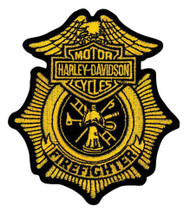 Harley-Davidson Firefighter Gold Patch, Small 3-1/2'' W x 4'' H EM1265172 - Wisconsin Harley-Davidson