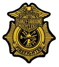 Harley-Davidson Firefighter Gold Patch, Small 3-1/2'' W x 4'' H EM1265172 - Wisconsin Harley-Davidson