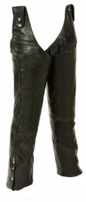 Leather King Unisex Beltless Chaps w/ Waist Adjustment SH1198 - Wisconsin Harley-Davidson