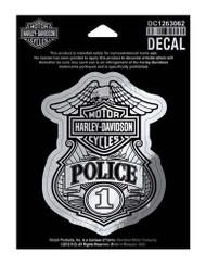 Harley-Davidson Police Original Decal, Small Size Sticker DC1263062 - Wisconsin Harley-Davidson