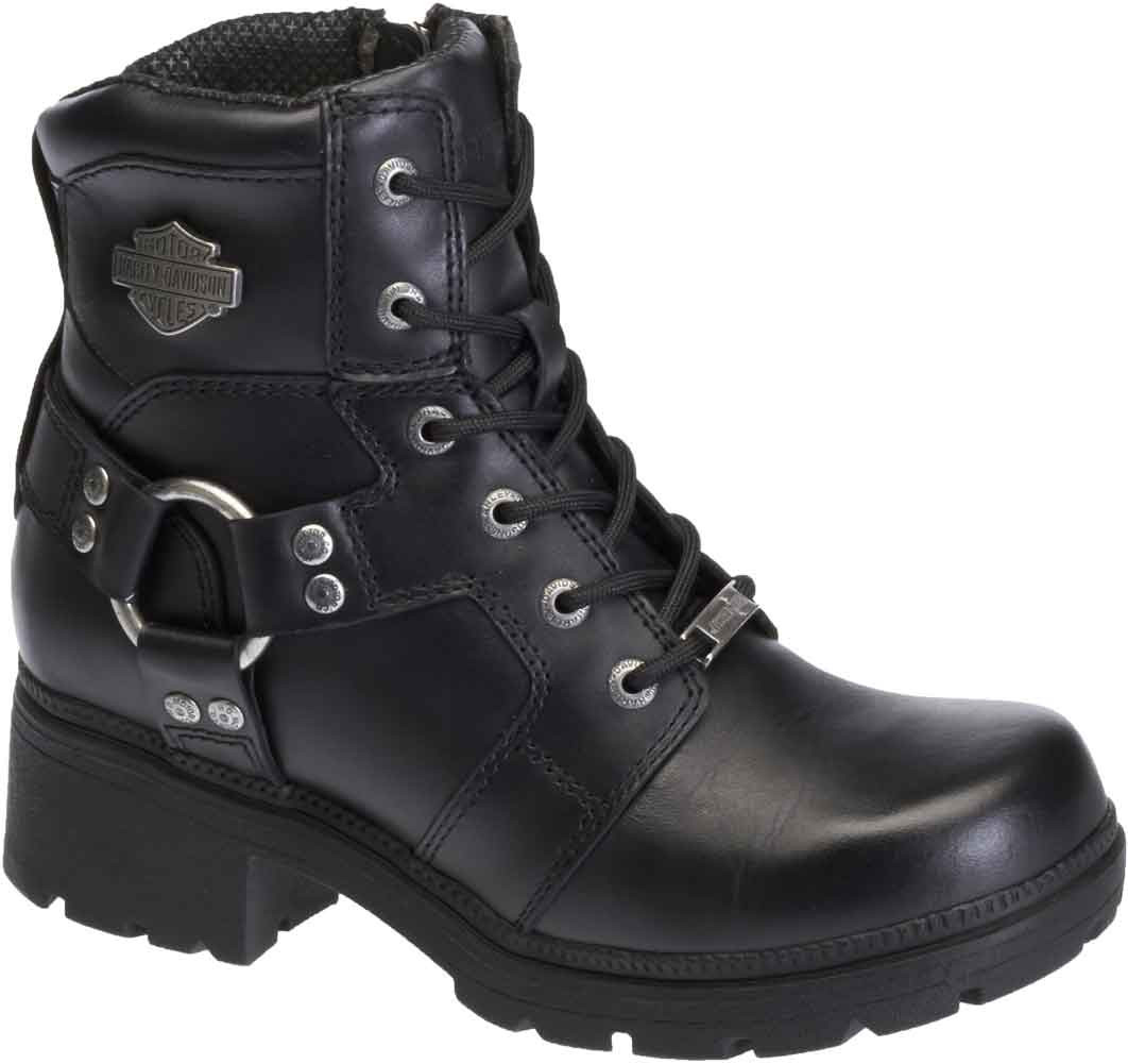 ddb64d3934c2 Harley-Davidson Women s Jocelyn 5.5-In Black Leather Motorcycle Boots.  D83775 - Largest. See 3 more pictures