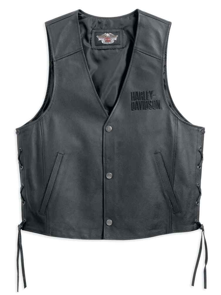... Men s Traditional Leather Vest 98007-11VM - Wisconsin Harley-Davidson.  Click to enlarge 0dbc9ec074f8