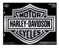 Harley-Davidson Bar & Shield X-Large Chrome Decal, X-Large Size D3028C - Wisconsin Harley-Davidson