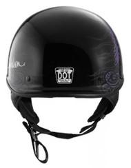 Harley-Davidson Women's Fly-By Ultra-Light J02 Half Helmet, Black 98224-16VW - Wisconsin Harley-Davidson
