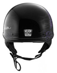Harley-Davidson Women's Fly-By Ultra-Light J02 Half Helmet, Black 98224-16VW - Wisconsin Harley-Davidson