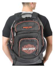 Harley-Davidson Mens Deluxe Backpack BP1900S-ORGBLK - Wisconsin Harley-Davidson