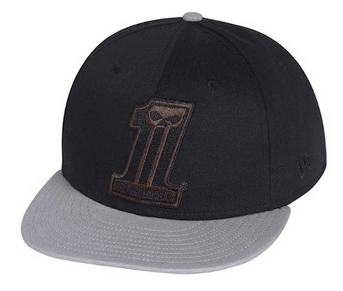 Harley-Davidson #1 Colorblocked 59Fifty Baseball Hat Cap, Black/Gray. 99403-15VM - Wisconsin Harley-Davidson