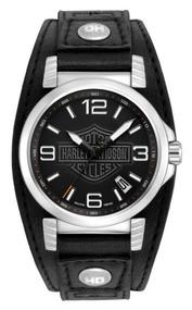 Harley-Davidson Men's Bulova Ghost Bar & Shield Wrist Watch. 76B163 - Wisconsin Harley-Davidson