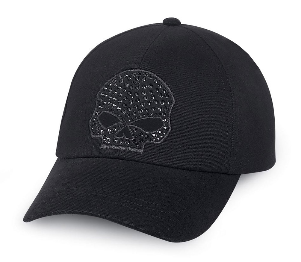7b2f4beedb9 Harley-Davidson® Women s Rhinestone Skull Baseball Cap