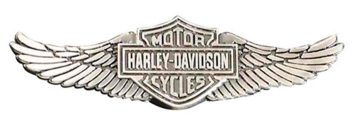 Harley-Davidson Men's Bar & Shield Wings Pin, Zinc Alloy Finish, Silver P339066 - Wisconsin Harley-Davidson