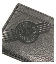 Harley-Davidson Mens Black Leather C4 Front Pocket Wallet CC8197L-BLACK - Wisconsin Harley-Davidson