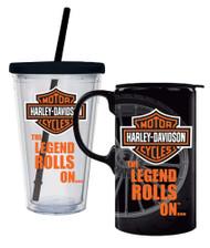Harley-Davidson Bar & Shield Logo Hot & Cold Drinkware Set, 2 Pack, P4214900LEG - Wisconsin Harley-Davidson