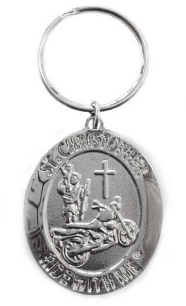 St. Christopher Ride with Me Motorcycle Medal Keychain BH010 - Wisconsin  Harley-Davidson dbf27b8096