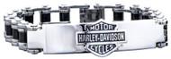 Harley-Davidson Men's Bike Chain ID Bracelet, Stainless Steel HSB0071-7.5 - Wisconsin Harley-Davidson
