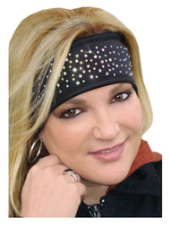 That's A Wrap Women's Dazzle Crystals Performance Fleece Headband, Black FHB1412 - Wisconsin Harley-Davidson