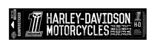 Harley-Davidson #1 Skull Bumper Stickers, Lg & Sm, Black/White BS718 - Wisconsin Harley-Davidson