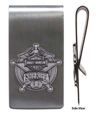 Harley-Davidson Sheriff Original Antique Nickel Money Clip MC126406 - Wisconsin Harley-Davidson