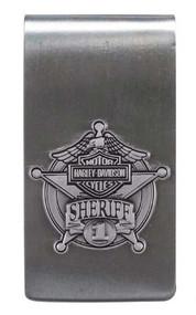 Harley-Davidson Sheriff Original Antique Nickel Money Clip MC126406 - Wisconsin Harley-Davidson