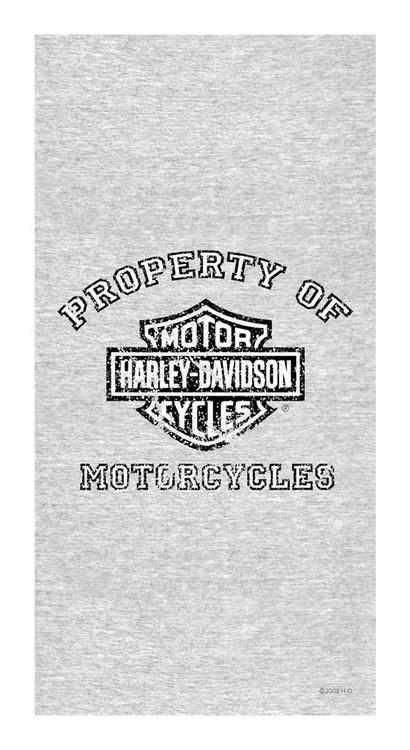 Harley-Davidson Beach Towel, Distressed Property Of Harley, 30 x 60 inch, 11246 - Wisconsin Harley-Davidson