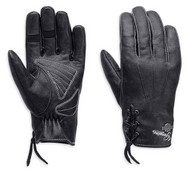 Harley-Davidson Women's Swingback Distress Full-Finger Leather Gloves 98343-15VW - Wisconsin Harley-Davidson