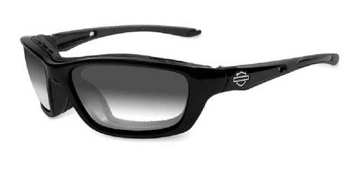 Harley-Davidson Brick LA Grey Lens w/ Metallic Black Frame Sunglasses HD856 - Wisconsin Harley-Davidson