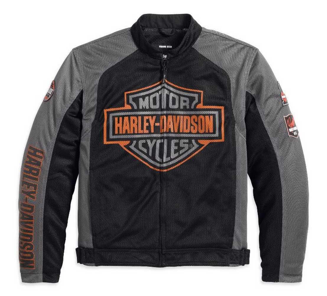 f93825d11a2 Harley-Davidson® Men's Bar & Shield Logo Mesh Jacket Black 98233 ...