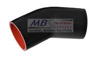 5ply Hi-Performance Black Silicone Hose (Coupler) 45* Elbow
