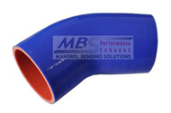 5ply Hi-Performance Blue Silicone Hose (Coupler) 45* Elbow