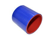 "5-ply Hi-Performance Straight Blue Silicone Hose Coupler 3"" long"