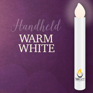Hand Held Vigil Candle Warm White LED Flame