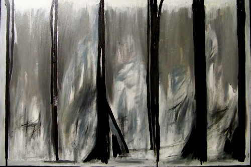 "'Ice Storm by Artist Justin McGonigle, Acrylic on canvas, 24 1/2"" x 37"""