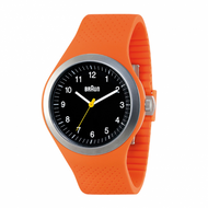 Braun - Men's BN-111-BKORG Sports Watch, Black dial, Orange Silicon Band