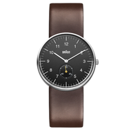 Braun - Men's BN-24BKBRG Black dial, Brown leather band