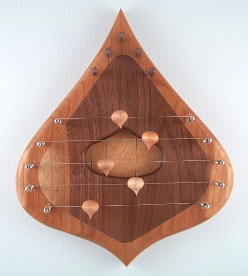 5 String Door Harp, Cherry & Walnut
