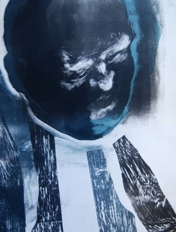 Monoprint and woodcut by Marc Cote, 'Black'