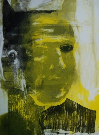 'Yellow' by Artist Marc Cote, Monoprint and woodcut