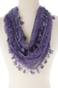 Lace Infinity Scarf (SP64N)