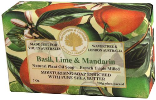 Wavertree & London Basil, Lime & Mandarin Soap