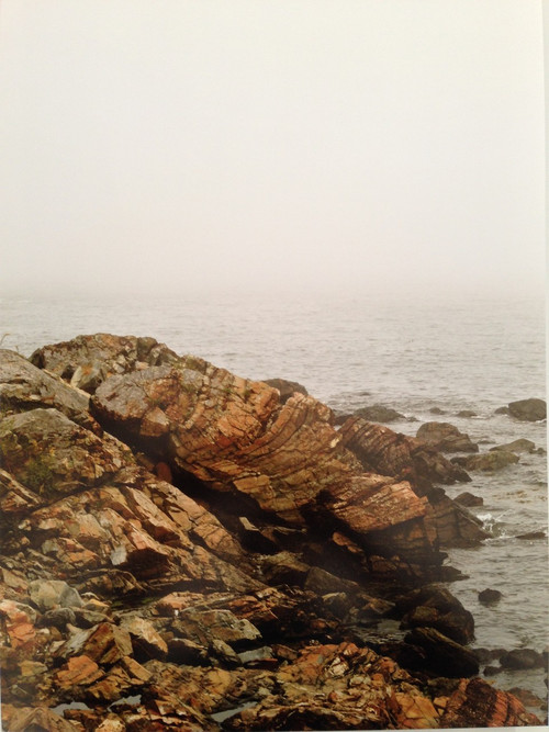 Glenn Hathaway - Maine Rocky Coastline, framed digital photograph
