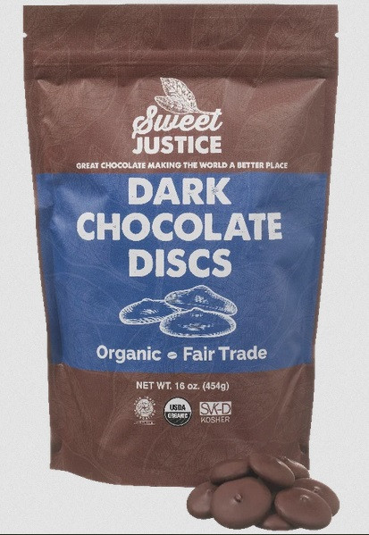 Dean's Beans Sweet Justice® Dark Chocolate Discs